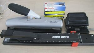Stanley Bostitch Long Reach Stapler 2 Hole Punch Swingline 3 Hole Punch Heavy