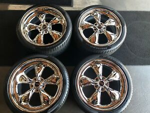 19 Foose Nitrous Se Chrome 3 Piece 19x8 5 19x10 Staggered Rims