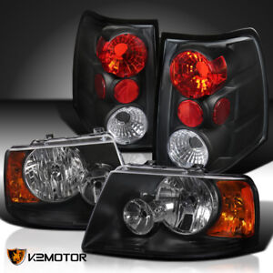 2003 2006 Ford Expedition Black Headlights Rear Brake Tail Lights Left Right