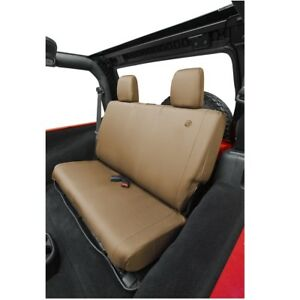 Bestop Tan Rear Bench Seat Covers For 2008 2012 Jeep Wrangler Unlimited