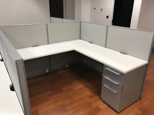 Used Office Cubicles Haworth Unigroup 6x6 Cubicles
