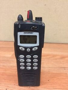 Macom Harris P7100 Ip 806 896 Mhz P25 Digital Trunking Edacs Radio Full Keypad