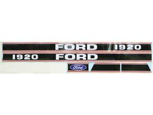 New Ford 1920 Hood Decal Set