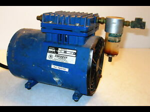 Thomas Industries Model 115 Portable Air Compressor Piston Wob l 60hz 3 5a
