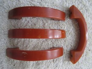 4 Vintage Butterscotch Catalin Bakelite Drawer Cabinet Pulls Handles
