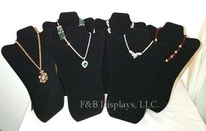 48 Wholesale Padded Necklace Display Jewelry Pendant Chain Holder Stands 14 Blk