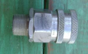 Stainless Steel Hydraulic Quick Coupling To 3 4 Threaded svhc 12 Nos 133