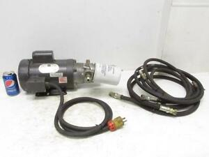 2 Hp Single 1 Phase Electric Hydraulic Pump Power Unit Doerr 115 230 Volt Motor