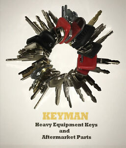 New Style 39 Heavy Construction Equipment Ignition Key Set New Keys Added