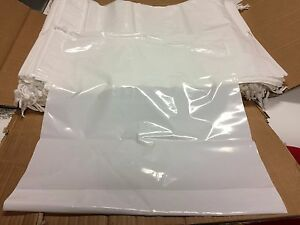 25 Store Shopping Plastic White Merchandise Drawstring Bag 20x24x4 2 2 Mil