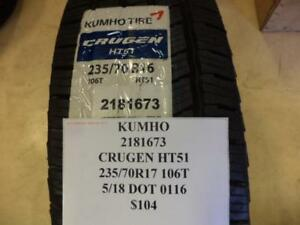 1 Kumho Crugen Ht51 235 70 16 106t Brand New Tire W Label 2181673 Q8