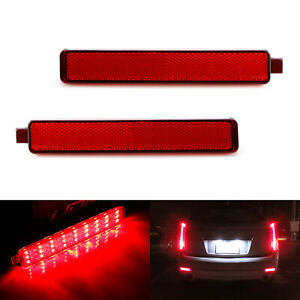 Red Lens 54 smd Led Bumper Reflector Marker Lights For Cadillac Cts Gmc Acadia