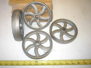 4 Cast Iron Wheel Sm Hit Miss Gas Engine Maytag Cart Curved Spoke Wheel