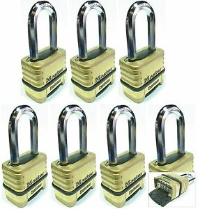 Combination Lock Set Master 1175lh lot 7 Resettable Long Brass Sealed Carbide