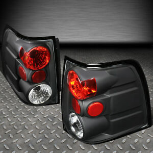 For 03 06 Ford Expedition Black Housing Tail Light Brake Parking Reverse Lamps