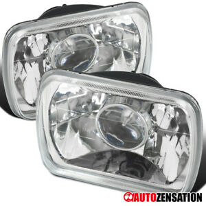 7x6 H4 H6054 Chrome Diamond Sealed Beam Projector Headlight Housing Replacement