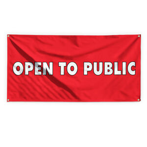Open To Public Outdoor Advertising Printing Vinyl Banner Sign With Grommets