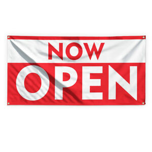 Now Open 1 Outdoor Advertising Printing Vinyl Banner Sign With Grommets
