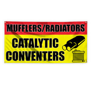 Mufflers radiators Catalytic Conveners Vinyl Banner Sign With Grommets
