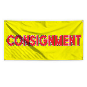Consignment 1 Outdoor Advertising Printing Vinyl Banner Sign With Grommets