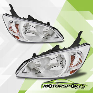 2004 2005 Honda Civic 2dr 4dr Chrome Factory Style Headlights Set