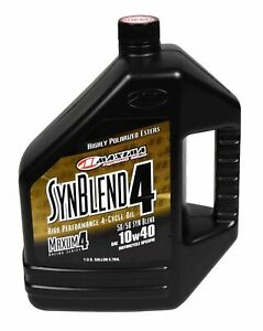 Maxima 349128b Syn Blend4 10w 40 Motorcycle Engine Oil 1 Gallon Jug