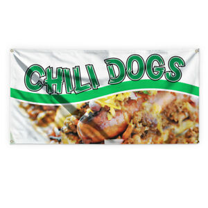 Chili Dogs 1 Outdoor Advertising Printing Vinyl Banner Sign With Grommets