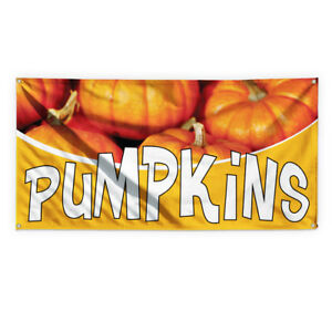 Pumkins 1 Outdoor Advertising Printing Vinyl Banner Sign With Grommets