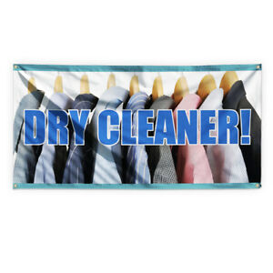 Dry Cleaner Outdoor Advertising Printing Vinyl Banner Sign With Grommets