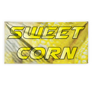 Sweet Corn 1 Outdoor Advertising Printing Vinyl Banner Sign With Grommets