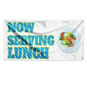 Now Serving Breakfast 9 Advertising Printing Vinyl Banner Sign With Grommets