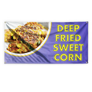Deep Fried Sweet Corn Advertising Printing Vinyl Banner Sign With Grommets