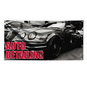 Auto Detailing 1 Advertising Printing Vinyl Banner Sign With Grommets