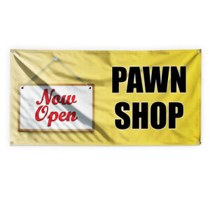 Now Open Pawn Shop Advertising Printing Vinyl Banner Sign With Grommets