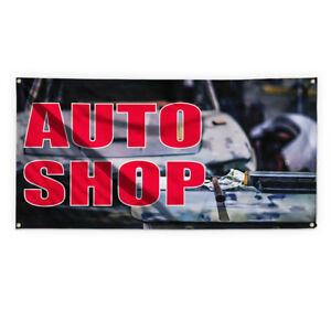 Auto Shop 1 Outdoor Advertising Printing Vinyl Banner Sign With Grommets