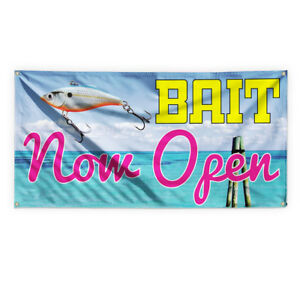 Bait Now Open Outdoor Advertising Printing Vinyl Banner Sign With Grommets