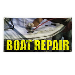 Boat Repair 1 Outdoor Advertising Printing Vinyl Banner Sign With Grommets