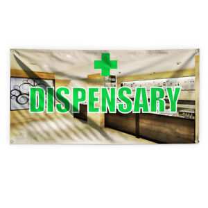Dispensary Outdoor Advertising Printing Vinyl Banner Sign With Grommets