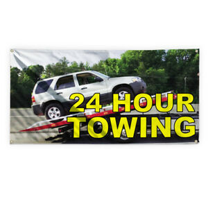 24 Hour Towing 1 Advertising Printing Vinyl Banner Sign With Grommets