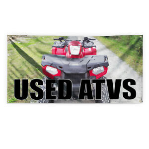 Used Atvs Outdoor Advertising Printing Vinyl Banner Sign With Grommets
