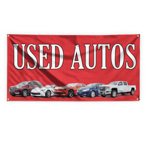 Used Autos Outdoor Advertising Printing Vinyl Banner Sign With Grommets