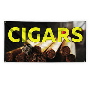 Cigars 2 Outdoor Advertising Printing Vinyl Banner Sign With Grommets