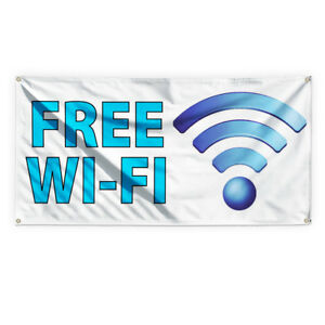 Free Wi fi 2 Outdoor Advertising Printing Vinyl Banner Sign With Grommets