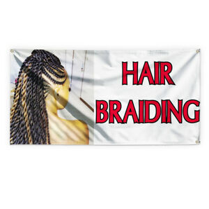 Hair Braiding 1 Outdoor Advertising Printing Vinyl Banner Sign With Grommets