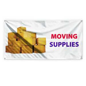 Moving Supplies Outdoor Advertising Printing Vinyl Banner Sign With Grommets