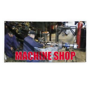 Machine Shop Outdoor Advertising Printing Vinyl Banner Sign With Grommets