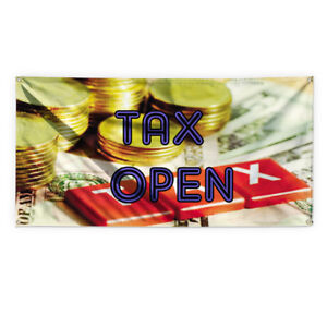 Tax Open Outdoor Advertising Printing Vinyl Banner Sign With Grommets