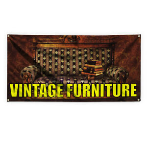 Vintage Furniture Advertising Printing Vinyl Banner Sign With Grommets