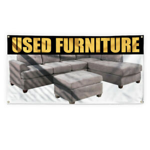 Used Furniture Outdoor Advertising Printing Vinyl Banner Sign With Grommets