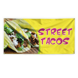 Street Tacos 1 Outdoor Advertising Printing Vinyl Banner Sign With Grommets